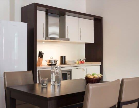 Апартаменты с 1 спальней, от 45 кв.м +540 м